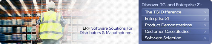 ERP Systems for Manufacturers and Distributors - Enterprise 21 ERP System